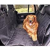 Tappetino per Cani Gatto Copertura di Sedile per Auto Antiscivolo Impermeabile Nero 147X137 cm