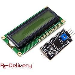AZDelivery ⭐⭐⭐⭐⭐ HD44780 1602 Módulo pantalla LCD Display para Arduino Paquete con interfaz I2C 2X16 caracteres