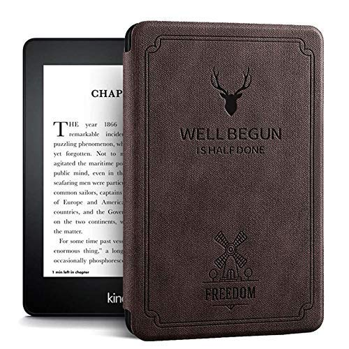 ProElite Deer Smart Flip case Cover for All Amazon Kindle Paperwhite 10th Generation (Deer Coffee) 4