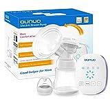 Elektrische Milchpumpe OUNUO Automatische Brustpumpe Einzel Muttermilch Abpumpen Stillpumpe mit Massage Speicherfunktion 8 Saugstufe LCD Touchscreen BPA Frei inkl. Schnuller