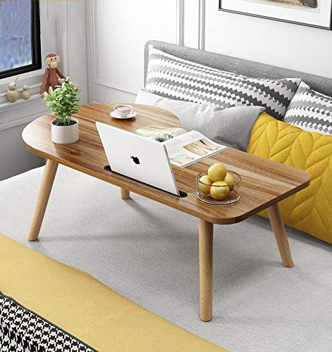 YQ WHJB - Vassoio da scrivania per Laptop, Portatile, in Legno, per la casa e la Colazione, b,...