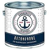 Betonfarbe SEIDENMATT Weiß RAL 9010 Bodenfarbe Bodenbeschichtung Betonbeschichtung Fassadenfarbe // Hamburger Lack-Profi (1 L)