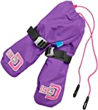 Didriksons Biggles Babies Kids Childrens Boy Girls Water resistant and Windproof Pull On Mittens (Mitts) (Deep Purple, 4 - 6 years)
