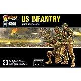 WAR-402013012A - Kriegsherr Spiele - 30 US Infanterie - 28mm Plastik-Wargaming-Miniaturen - Repetierbock