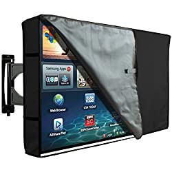 "Protector TV Exterior Funda Universal para Televisor de 30"" - 32"" LCD, LED, ó Plasma, Resistente al Agua, Doble Protector de Pantalla con Capa Invisible - Negro Transparente 32"