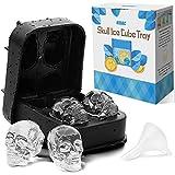 Kidac bac moule à glaçons en forme de tête de mort sans BPA en Slicone pour glaçons chocolat et bonbons-Passe au lave-vaisselle.