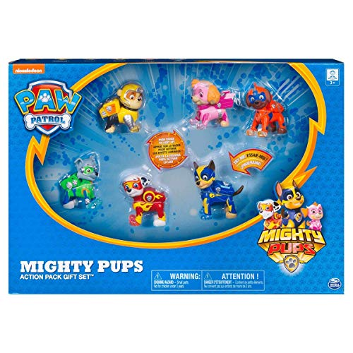 PAW PATROL 6046559 Mighty Pups Set Regalo, Colori Misti