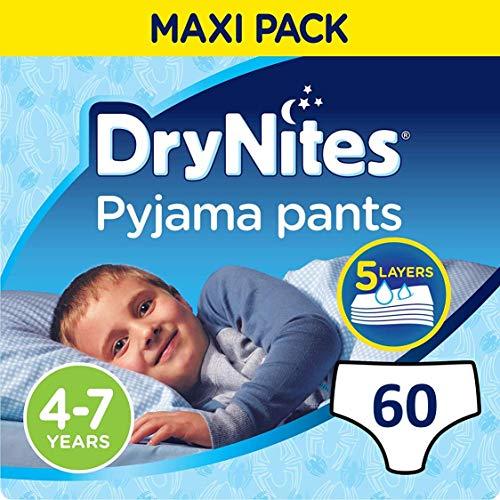 Drynites Mutandine Assorbenti per la Notte da Bambino, 17-30 Kg, 2 Confezioni da 30 pezzi