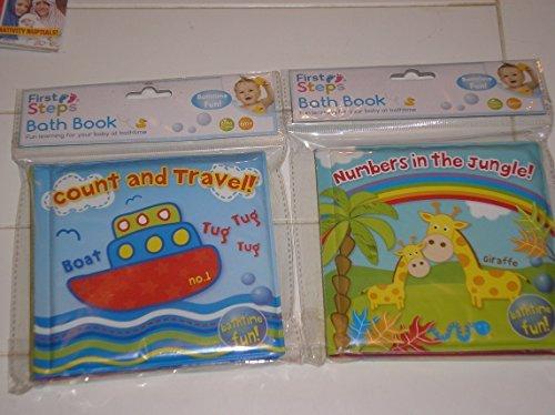 We Search You Save - Confezione da 2 libri morbidi per bagnetto, impermeabili e colorati (lingua...