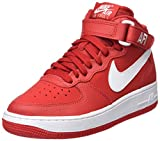 Nike Air Force 1 Mid (GS), Chaussures de Basketball garçon, Multicolore (University Redwhite), 37.5 EU