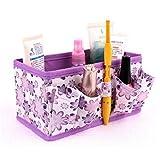 Tianfuheng makeup Cosmetic Storage box bag Bright organiser contenitore pieghevole portagioie di, Purple, taglia unica
