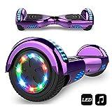 MARKBOARD Hoverboard,Elektro Scooter 6,5 LED Elektro Scooter E-Balance E-Skateboard Elektroroller Bluetooth LED (LED LILA)
