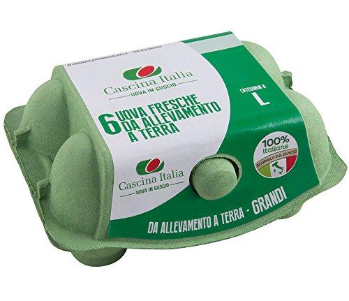 Cascina Italia 6 Uova Fresche Categoria A da Allevamento a Terra Grandi - 408 gr