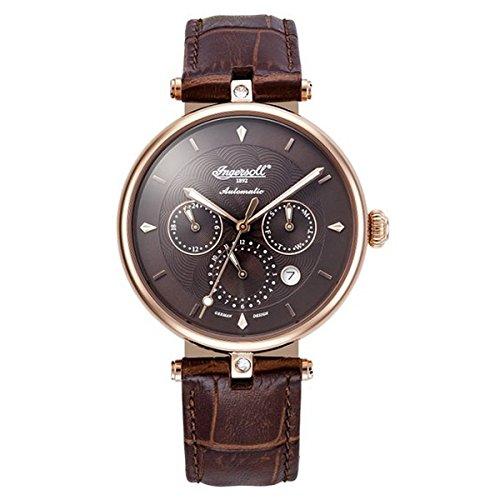 Ingersoll Damen Analog Automatik Uhr mit Leder Armband IN1318RBR