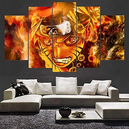 Soggiorno HD Stampato Immagini Wall Art 5 Pezzi/Pz Personaggi Modulari Decorazioni per la casa...