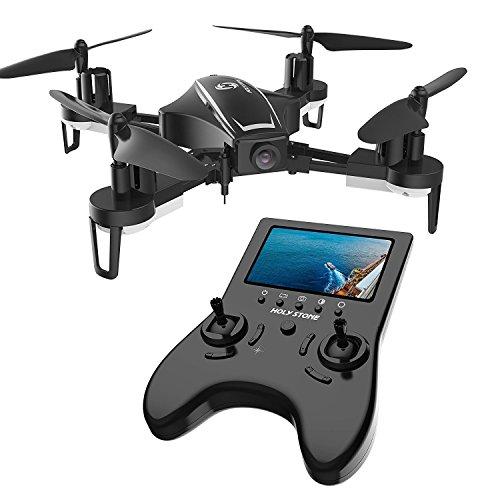 Holy Stone Drone RC FPV con 120 ° FOV 720P HD HS230 Droni Camera Live Video 45Km / h Quadcopter ad Alta velocità di Resistenza al Vento con Schermo LCD 5.8G Trasmettitore in Tempo Reale