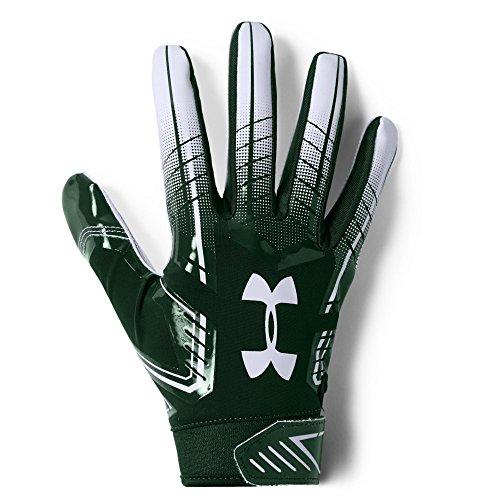 Under Armour Guanti da Football, F6, Uomo, Guanti, Men's F6 Football Gloves, Forest Green...