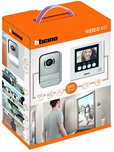 BTicino 316913 Kit Videocitofono 2 Fili, 4,3', Mono/Bifamiliare, Bianco