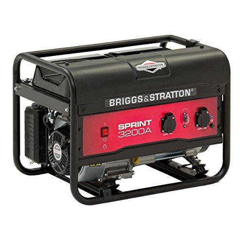 Briggs & Stratton SPRINT 3200A generador portátil de gasolina - Potencia en marcha de 2500/Potencia inicial de 3125, 030672A, 2500 W, negro