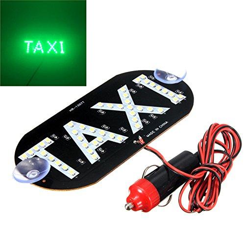 SYN Luce a LED per Taxi Auto, Verde, 45 LED, 12 V, Luce Vehical per Interno Parabrezza, 14 cm, 7 cm,...
