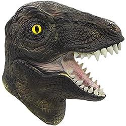 Molezu máscara de dinosaurio, Máscara de dinosaurio halloween, Novedosa máscara de fiesta de látex con cabeza de dinosaurio.