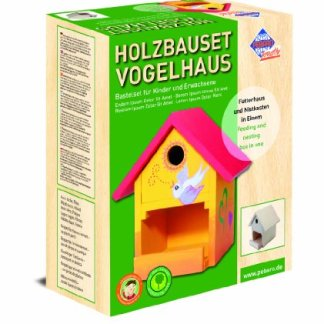 Pebaro Bastel Holzbauset Vogelhaus