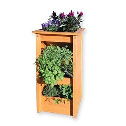 floristikvergleich.de Blumensäule Kräutersäule Kräuterbeet für Balkon Terrasse von Gartenpirat®