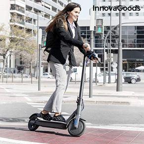 InnovaGoods Patinete Eléctrico Plegable Pro 8,5'' 7800 mAh 350W Negro, Adultos Unisex, Gris, 8,5