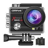 Campark 4K Action Cam WIFI Sport Action Camera Full HD 16MP 170° Grandangolare 2.0 Pollici 2 Batteria di Ricambio (Nero)