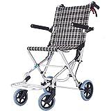 YHANX Fauteuil Fauteuil Roulant Léger Autopropulsé Pliable De Transport de Transport de Fauteuil Roulant en Alliage D'aluminium Handicapant...