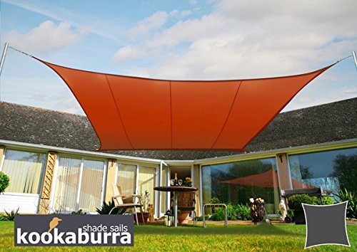In terms of how much shade you can get, the Kookaburra Waterproof Terracotta Shade Sail 5.4m square makes a great choice. The provides provides basic shade from the sun and protection from the rain showers but it can't survive extreme weather. Installation can be done anywhere there are sturdy supports and maintenance is really simple. The product has a few negatives but it's better than many cheap shade sails.