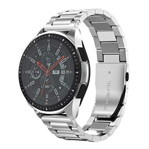 NotoCity Cinturino Universale 22mm in Acciaio Inossidabile + Milanese Compatibile con Galaxy Watch 46mm / Gear S3 Classic/Fenix 5 Bracciale di Ricambio