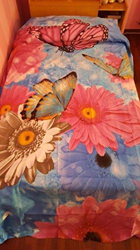 M&O Toalla Manta sofá Colcha de Microfibra cm 250x 250Mariposas