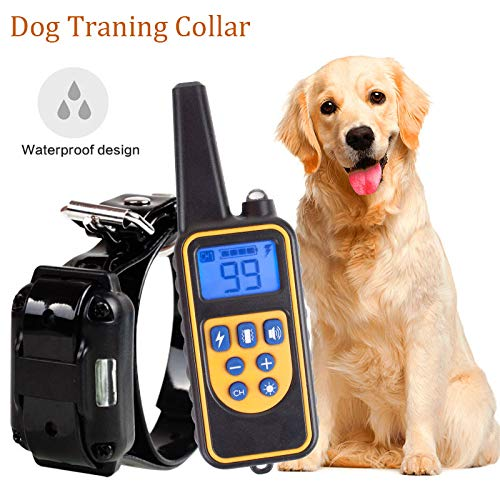 CRD PRODUCTS 800m Electric Dog Training Collar Pet Remote Control Waterproof Rechargeable with LCD Display Bark-Stop Collars