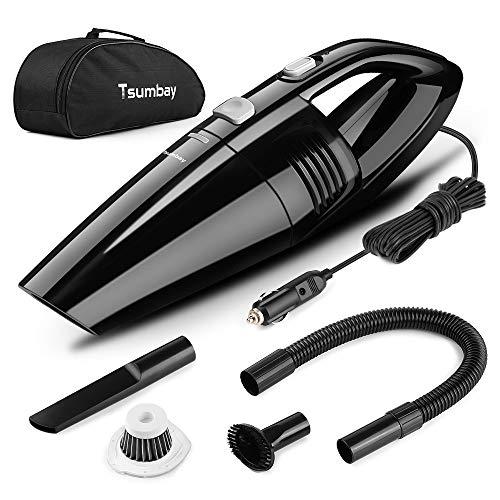 Tsumbay Aspirapolvere per Auto, Aspirabriciole Portatile Potente DC 12V 120W 5000PA, Aspirapolvere...
