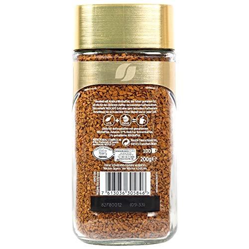Nescafe Gold Blend Coffee Golden Roast, 200 g 6