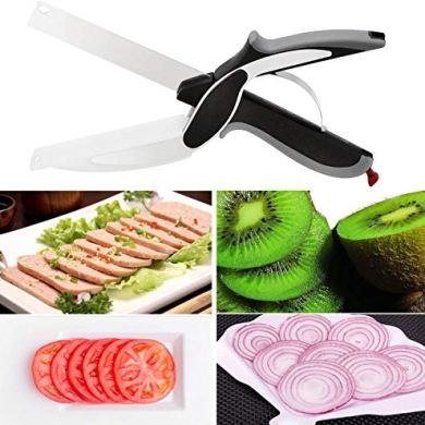 Sell ON New Arrival Garlic, Chilli and Dryfruits Multi Crusher Chopper Combo of Plastic Transparent Multi Vegetable Crusher/Grinder/Cutter and 2 in 1 Cutter/Knife/Chopper (Green/2 in 1 Cutter Combo) 23