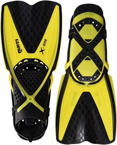 Mares 410337, Pinne Unisex-Adulto, Giallo, 37/39