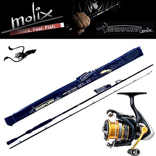 Molix Kit Skirmjan Evo Canna Pesca Egi Modello MSE-SW-782EL + Mulinello Daiwa Revros 2500