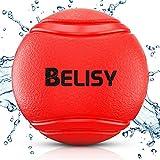 BELISY Balle Rebondissante Chien - Balle Chien Indestructible - Jouet pour Grands et Petits Chiens - Ballon Chien Solide - Convient pour Chiots - Fabriqué en Caoutchouc Naturel & Écologique - Couleur Rouge