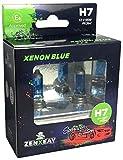 ZENXEAY H7 XENON BLUE Sportscar Edition, Halogen Leuchtmittel, 12V 55W, Xenon Optik, Super White Birne, 2 Stück