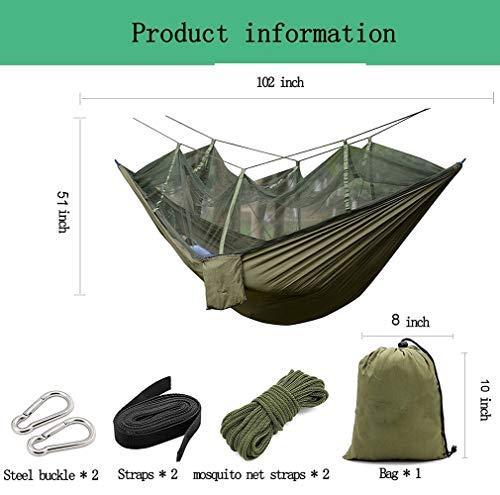DHIDWWBBH Camping extérieur portatif moustiquaire en Nylon hamac Suspendu lit balançoire Dormir, Orange 26