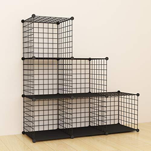 SIMPDIY Scaffalatura in filo Organizzatore Modulare 6 cubi 93x32x93cm Libreria Grande Capacità...