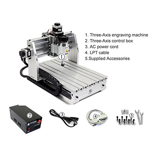 Mini CNC Router Engraver/ Milling Machine CNC engraving machine for Copper Aluminium(Surface Engraving) Engraving area??250X200mm