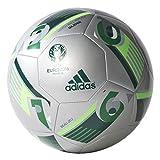 adidas Unisex Adults Euro 16 Glider Football-Silver Metallic Solar Green, Size 5