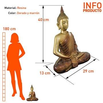 Figura buda iluminado de resina en color dorado y marrón   Tamaño: 29x13x40 cm   Portes gratis 4