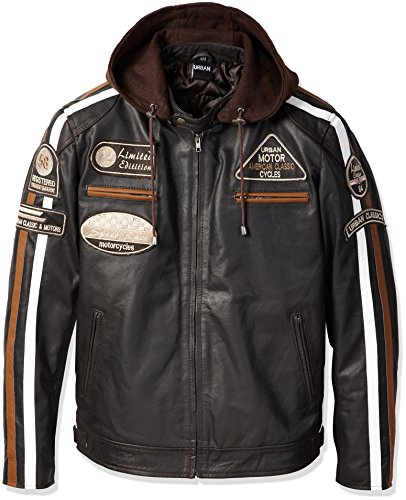 Urban Leather 58 Gents Giacca da Uomo, colore Marrone, Taglia 5XL