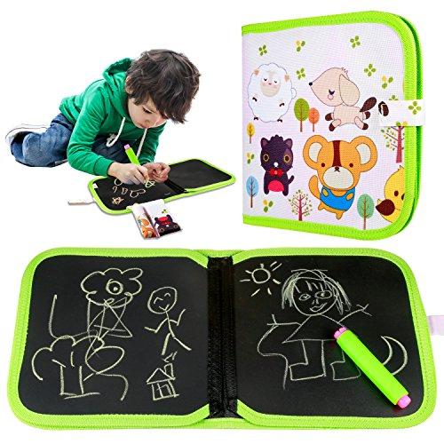 Yosemy Portatile da Disegno per Bambini, Doodle Disegno Giocattoli per Bambini con 3 Gessetti...