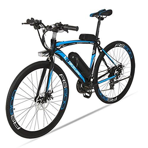 Bicyclette-lectrique-Extrbici-RS600-700C-Vlo-de-ville-lectrique-en-Alliage-dAluminium-240W-36V-15A-SHIMANO-TZ-21-Vitesses-avec-Suspension-de-la-Fourchette-et-Moteur-Brushless-Couleur-Noir-Bleu-Cyrushe