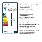 Heitronic Strahler Retro 4 flammig, weiß lackiert verchromt, dreh- und schwenkbar